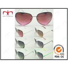 Popular Fashion Ladies Metal Sunglasses with Hearted-Shaped in Lens (30308)