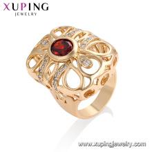 13290 - Xuping Jóias Moda Mais Recente Design Ring With18K Banhado A Ouro