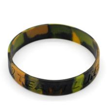 Camouflage Silicone Bracelet Manufacturer Custom Camouflage Silicone Wristband