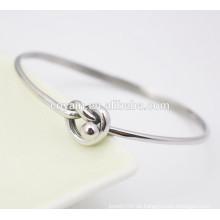 Neueste silberne Armbänder Design Einfache Stahl neuesten Armreifen