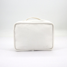 Hot Selling Custom Portable Travel Waffle Toiletries Bag Makeup Cosmetic Bag