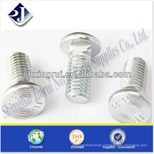 SAE flat heat with square neck BOLT Grade 8.8 zinc TS16949 ISO9001