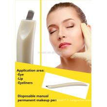 Vente en gros biombère microblade poignées / sourcils outils à main jetables / stylo de maquillage permanent