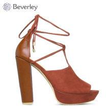 HXS311 оптовая горячая салинг блок высокий каблук сандалии женская обувь