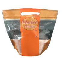 Custom Printed Market's Kitchen Signature Rotisserie Chickens Bag With Vented Zipper Pouch Microwave Resistant Resealable Pouch