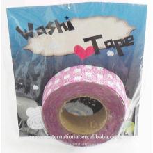 cinta japonesa del washi del brillo al por mayor / de la aduana impresa cinta del conducto