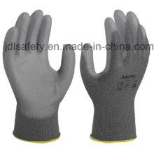 Gray Nylon Work Glove with PU Coated (PN8118)