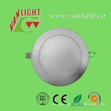 12W SMD2835 Cool White LED Panel redondo de luz