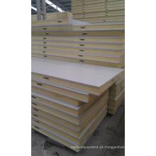 Painel do plutônio da cor branca para o painel de parede da sala fria e o painel de teto