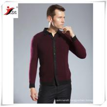 2016 fashion men's cashmere knitting polo