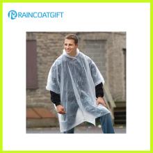 Manteau imperméable à l'eau unisexe transparent en PE