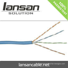 Lansan lan cable utp cat5e lan cable 4 pair 24awg BC cable 305m best price lan cable good quality