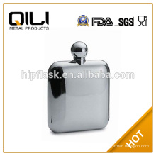 stainless steel flask 6oz mirror polished hip
