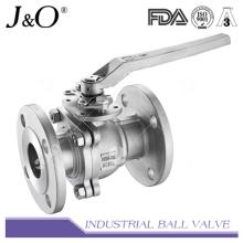 Válvula de esfera de flange com 2PC com almofada de montagem JIS10k
