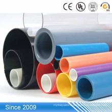 Tube rigide coloré merveilleux d'extrusion en plastique, tube en plastique