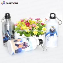 600Ml Silver aluminum sports bottle for sublimation