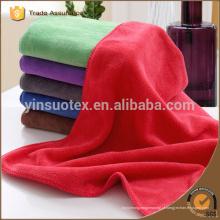 Toalha de microfibra de cor vermelha, toalha de esporte de microfibra, toalha de praia de microfibra