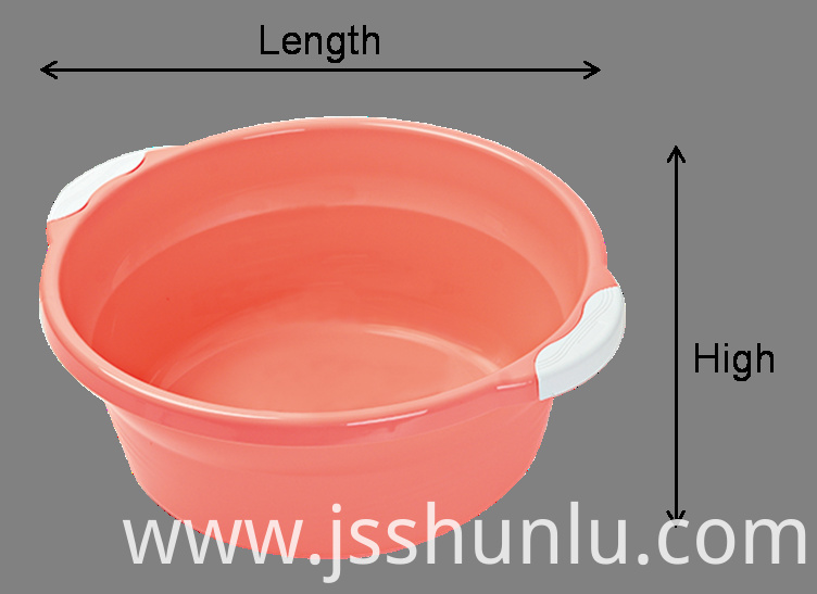plastic wash basin with handles