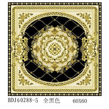 Usine de carrelage en cristal 300X300 poli avec or au Guangxi (BDJ60288-5)