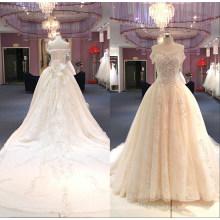 off Shoulder Big Train Beads Ballgown Bridal Wedding Dress Gown Wgf149