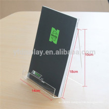Top Grade Imported Material V shape Acrylic Table Tent Display