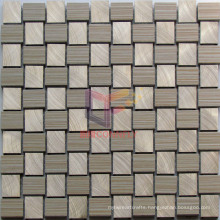 Gold Color Aluminium Mix Beige Weave Shape Mosaic Tiles (CFA78)
