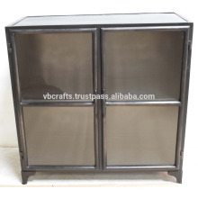 Industrial Vintage Cabinet Dark Farbe Glas Türen