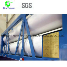 27.84m3 Water Capacity 12 Tubes CNG Container Semi Trailer