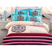 Tela de algodão egípcio impresso para crianças conjuntos de cama reversível edredon de capa