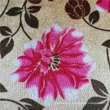 Ткань для покрытия дивана из полиэстера и бархата с цветочным принтом