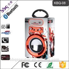 KBQ-08 1200mAh build-in battery New Arrival mini karaoke system speaker with mic input USB/TF/FM