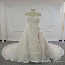 Sleeveless Sweetheart Lace Latest Design Wedding Dress