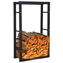 Removable Metal Powder Coated Indoor Firewood Storage Shelf
