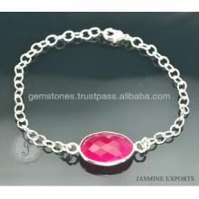 Quartz en bijoux en argent plaqué en argent disponible en gros bijoux faits main