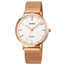 SKMEI 1664 Men Quartz Watches Classic Stainless Steel Mesh Quartz Wrist Watch