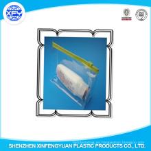 Impreso PVC LDPE Ziplock Bolsas Slider Zip Bolsa de plástico para la ropa
