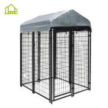 Jaula para perros de malla soldada con protección solar