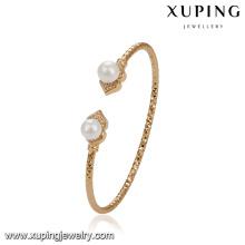 51773 bijoux xuping Bracelet plaqué or 18 carats élégant Double perle
