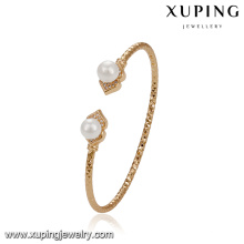 51773 xuping ювелирных изделий 18k позолоченный элегантный двойной жемчуг браслет