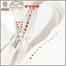 8 # dientes de color Multi Open Zippers industriales finales