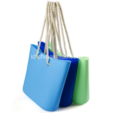 Hot New Colorful Candy Silicone Beach bag Tas Tas Tote Tas Bahu