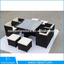 Haute table de haute qualité unique de sofa de coin de rotin de conception