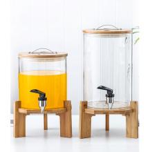 8l beverage glass jar dispenser with tap large glass jar with lids