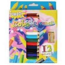 arte coloringJumbo conjunto de cores de lápis colorido múltiplo colorido