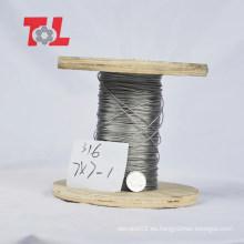 Precio de fábrica de cable de acero inoxidable de alta calidad