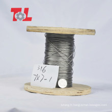 Prix d'usine de câble métallique en acier inoxydable de qualité supérieure