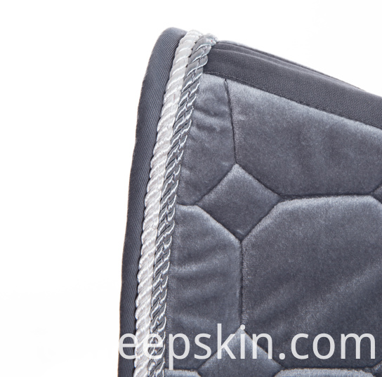 Velour Quilting Saddle Pad
