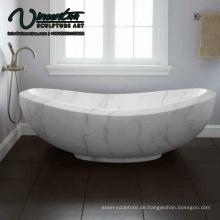 2018 neue freistehende weiße Marmor Badewanne Preis zum Verkauf