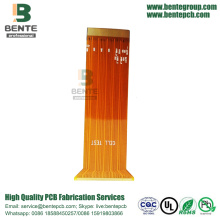 "Flex PCB 1 Layer Golden Finger 20U ""High Precision"