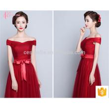 Nova coleção colorida Alibaba Melhor Preço Long A Line vestido de dama de honra